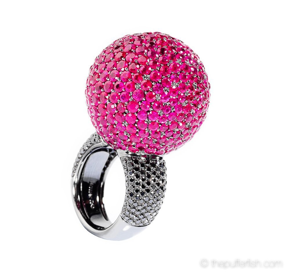 ThePufferfish, Flower Diamond, pink ring