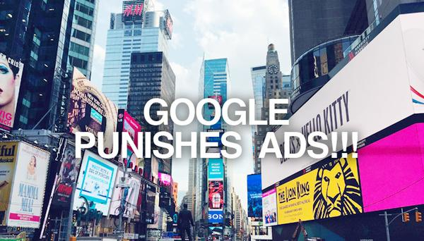 Google punishes pop-up ads